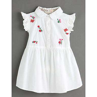 Brzdąc Dla dziewczynek Podstawowy Żakard Krótki rękaw Sukienka / Urocza