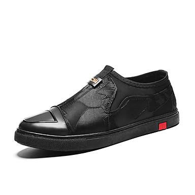 Men's / Light Soles PU(Polyurethane) Spring / Men's Fall Sneakers Black / Red 012134