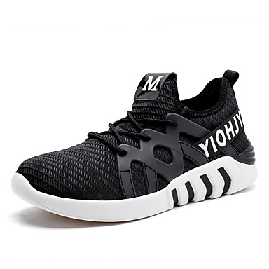 Men's Tulle Spring / Fall Shoes Comfort Athletic Shoes Walking Shoes Fall Black / Pink / White / Black / White f4efe3