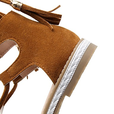 06642179 Cyclisme Eté Demi Botte Cuir Talon Confort Nubuck Plat Bottine Printemps Sandales Chaussures Femme Gladiateur Marche Bout ouvert ZT4nq8qx