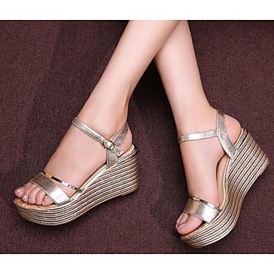 Confort Basique Femme 06629866 Escarpin Chaussures Noir Plateau Cuir Or Eté Sandales rfXqtX7w