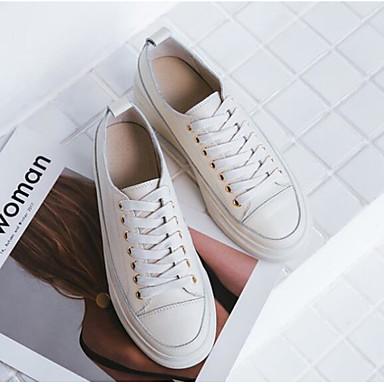 Confort Basket Amande 06682711 Talon Chaussures Automne Blanc Cuir Plat Femme wWxH6qgAF