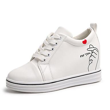 deporte Mujer Zapatillas Zapatos Negro Plano Otoño de Confort Tacón PU 06682737 Blanco AqZAaT