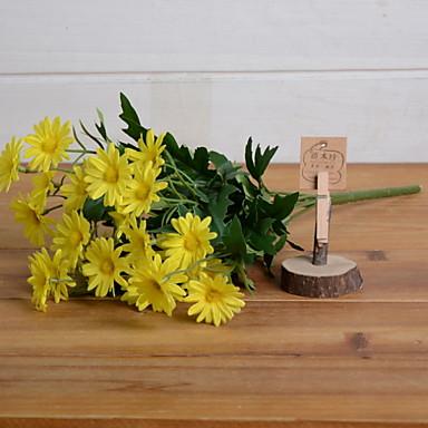 Sztuczne Kwiaty 1 Gałąź Rustykalny Stokrotki Bukiety na stół