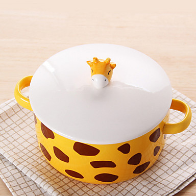 1 szt. Miseczka obiadowa Naczynia Ceramika Kreatywne żaroodporne Nowoczesne
