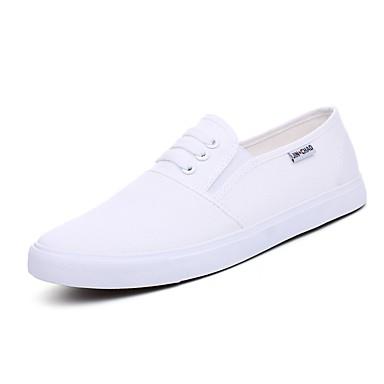 Bărbați Pantofi de conducere Pânză Primăvara & toamnă Confortabili Adidași Alb / Negru