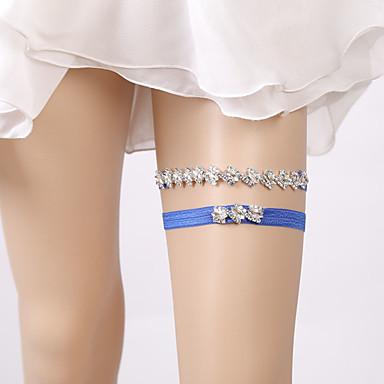 Dantelă / Paiete Stil Vintage Nunta Garter Cu Piatră Semiprețioasă / Găuri Jartiere Nuntă / Party & Seară