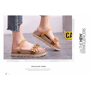 Confort Sandales Chaussures Noir Talon Chameau Femme Plat Cuir 06665338 Eté Kaki qFTtCS