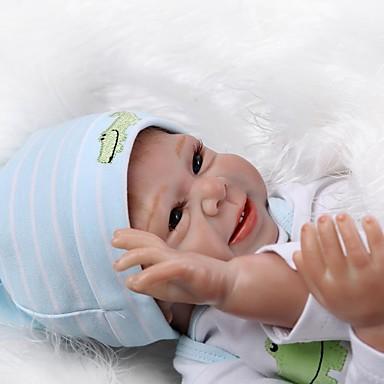 NPKCOLLECTION MUÑECA NPK Muñecas reborn Muñeca chica Bebés Niñas 20 pulgada Silicona - Recién nacido natural Bonito Segura para Niños Non Toxic Pestañas aplicadas a mano Kid de Unisex / Chica Juguet