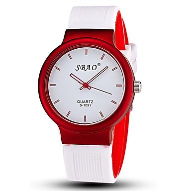 Herrn Armbanduhr Quartz Armbanduhren für den Alltag Silikon Band Analog Süßigkeit Modisch Gelb Rot Grün Ein Jahr Batterielebensdauer / SSUO LR626