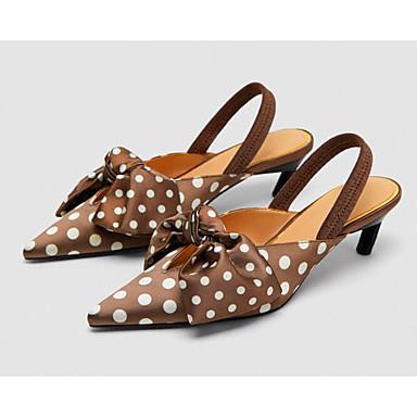 Foncé Sandales Printemps Brun Femme Confort Chaussures Soie Aiguille 06665213 Talon Eté qXwwRzP