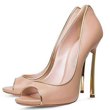 Chaussures Rouge Basique été Bout Noir ouvert Printemps Similicuir Talons Microfibre Femme Escarpin Talon 06698674 Aiguille à Chaussures ZWqFBpwn0