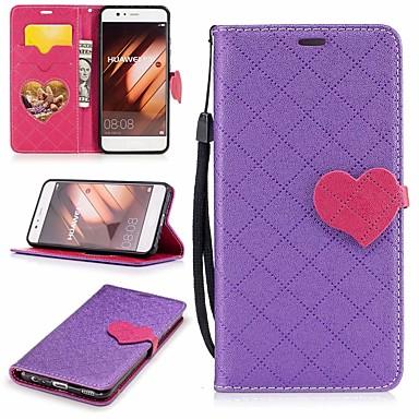 Maska Pentru Huawei P10 Portofel / Titluar Card / Cu Stand Carcasă Telefon Inimă Greu PU piele pentru P10