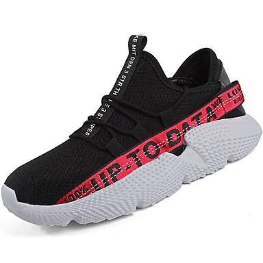 Men's Knit / Customized Comfort Materials / Fabric Fall Comfort Customized Athletic Shoes Running Shoes Black / Gold / Black / White / Black / Red c3570c