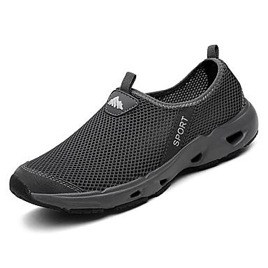 Femme Chaussures Gris Eté Talon Chaussures Tulle Bout 06693902 Confort rond Marche d'Athlétisme Plat rqq6fpx