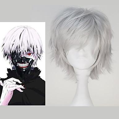 Cosplay Perücken Tokyo Ghoul Ken Kaneki Anime Cosplay Perücken 32 CM Hitzebeständige Faser Herrn