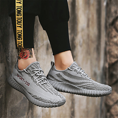 Confort Chaussures Gris Bleu Talon Basket Plat 06679883 Femme Tricot Eté pHanaCx