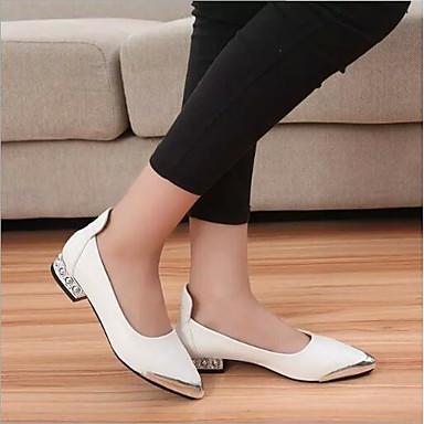 Zapatos redondo Verano Blanco Dedo Confort Tacón Bailarinas Mujer Plateado PU Negro 06694512 Plano dwqCx8Fa