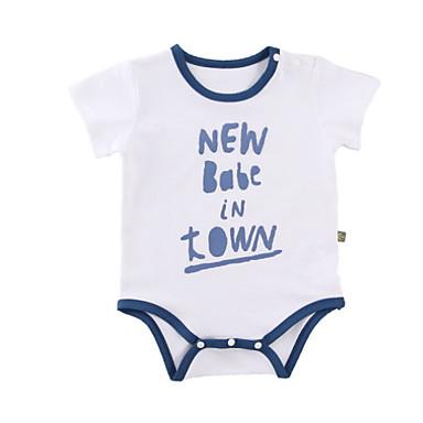 Bebelus Unisex De Bază Imprimeu Mânecă scurtă Bumbac bodysuit / Copil