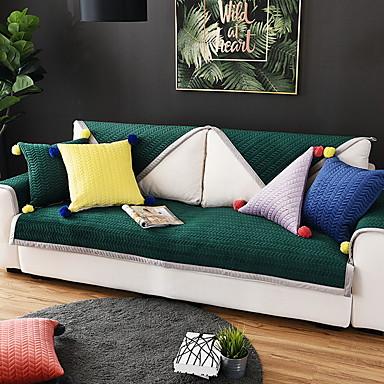 Pokrowiec na sofę Jendolity kolor Pikowana Poliester / Bawełna slipcovers