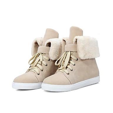 Bout Bottes Femme Chaussures Bottine hiver Noir 06682076 Plat neige Automne Amande Laine Bottes Jaune Botte Talon Demi rond de synthétique xBnPxdO