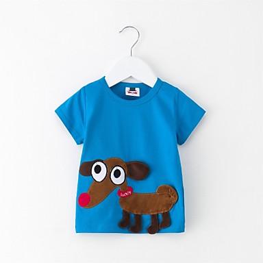 Bebelus Unisex Imprimeu Manșon scurt Bluză