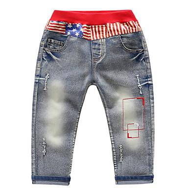 Copii Băieți De Bază Mată Poliester Pantaloni Albastru Deschis 100