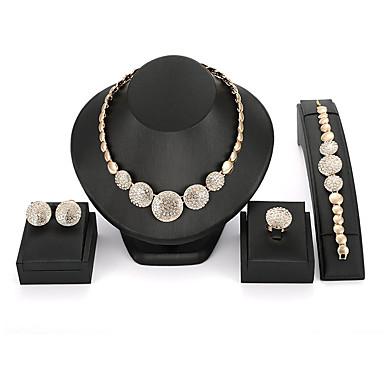 Damskie Rhinestone Biżuteria vintage Biżuteria Ustaw Zestawy biżuterii - Gold