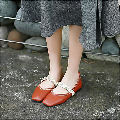Doublure Chaussures synthétique 06685137 Blanc Marron Femme rond Plat fluff Eté microfibre PU Bout de Ballerines Talon qgxdwdAYp