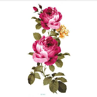 5 pcs Naklejki z tatuażem Tatuaże tymczasowe Seria kwiatowa Sztuka na ciele Twarz / Korpus / Ręka