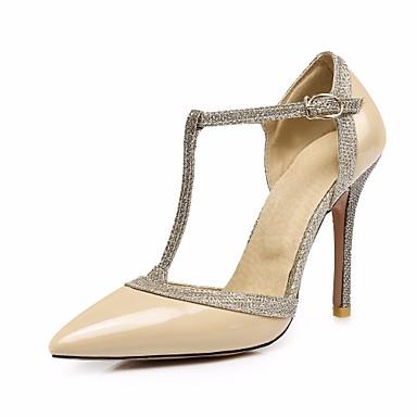 Talons Boucle Chaussures Femme Chair Escarpin à été Talon 06685156 Argent Printemps Rouge Polyuréthane Bout Basique pointu Aiguille Chaussures B8wOBqA