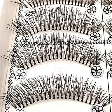 Rzęsa Sztuczne rzęsy 20 pcs Profesjonalny Większa objętość Natutalne Curly Włókno Codzienny Ćwicz Pełne rzęsy Naturalna długość - Makijaż Makijaż codzienny Profesjonalny Przenośny Kosmetyk Akcesoria