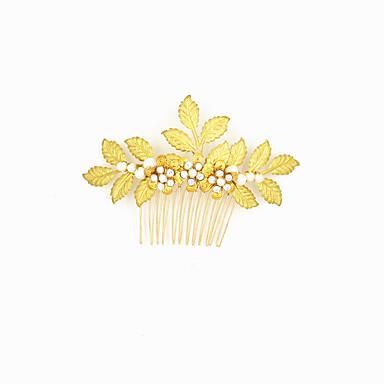 Aliaj Îmbrăcăminte de păr cu Cristale / Strasuri 1 Bucată Nuntă / Party / Seara Diadema