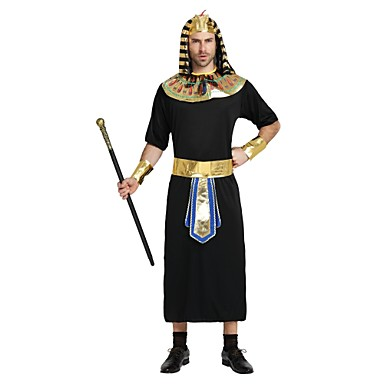 Kostiumy Egipskie Stroje Męskie Halloween / Karnawał / Dzień śmierci Festiwal/Święto Kostiumy na Halloween Black Jendolity kolor /