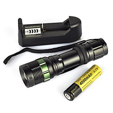 Lanterne LED / Lanterne de Scufundări / Lanterne  Manuale LED 900 lm 1 Mod Zbor Portabil / Profesional / Rezistent la uzură Camping / Cățărare / Speologie / Vânătoare Negru
