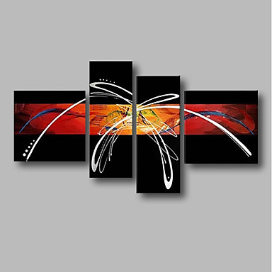 Hang-Malowane obraz olejny Ręcznie malowane - Streszczenie / Krajobraz Comtemporary Brezentowy