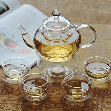6szt szkło Herbaciana zastawa żaroodporne ,  19.5*10.8;12.7*7.5;6*5cm