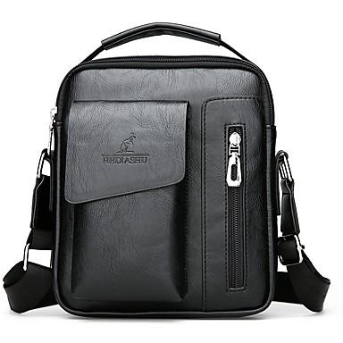 5e34b88656 Men s Bags PU(Polyurethane) Shoulder Bag Zipper Black   Dark Brown
