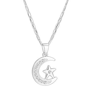 f05c89e3434b Collares con colgantes MOON Estrella Luna creciente damas Étnico Dorado  Plata 55 cm Gargantillas Joyas Para Regalo Diario