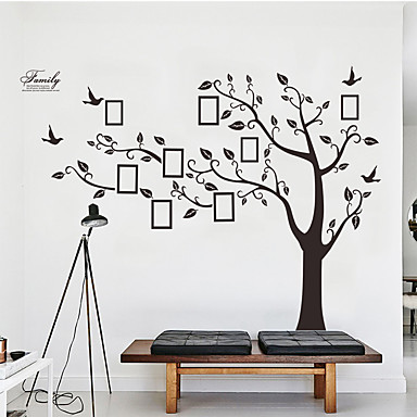 cheap Home Decor-Decorative Wall Stickers Photo Stickers - Plane Wall Stickers Animals Floral / Botanical Living Room Bedroom Bathroom Kitchen Dining Room