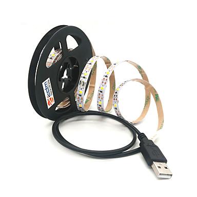 billige LED Strip Lamper-ZDM® 2m Lysslynger 300 LED SMD 2835 Varm hvit / Kjølig hvit Kuttbar / USB / Koblingsbar USB-ladet 1pc / Selvklebende