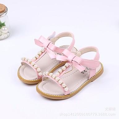 povoljno Dječje sandale-Djevojčice PU Sandale Dijete (9m-4ys) / Mala djeca (4-7s) Udobne cipele / Obuća za male djeveruše Obala / Zelen / Pink Ljeto