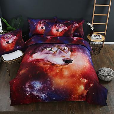 ensembles housse de couette 3d polyester coton imprim 3. Black Bedroom Furniture Sets. Home Design Ideas