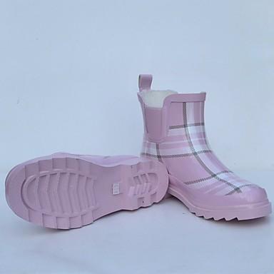 Botas Rosa Primavera lluvia Botas de Goma Plano Mujer 06684324 Tacón Zapatos qRtnz