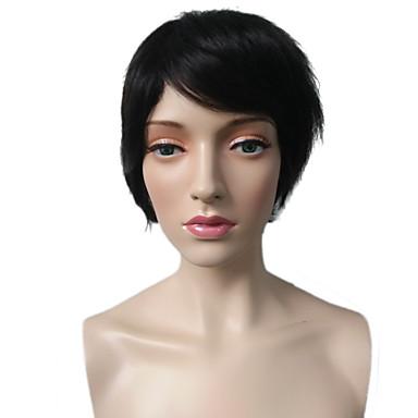 お買い得  人工毛キャップレスウィッグ-人工毛ウィッグ ストレート スタイル レイヤード・ヘアカット キャップレス かつら ブラック ミディアムブラウン 合成 女性用 耐熱 / クラシック / 合成 ブラック かつら ショート コスプレ用ウィッグ