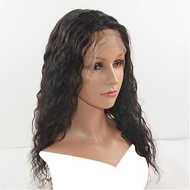 Păr Natural Integral din Dantelă Perucă Păr Brazilian Ondulat Perucă Dame / cald Vânzare / Mărime medie Natural Lungime medie Peruci Păr Uman