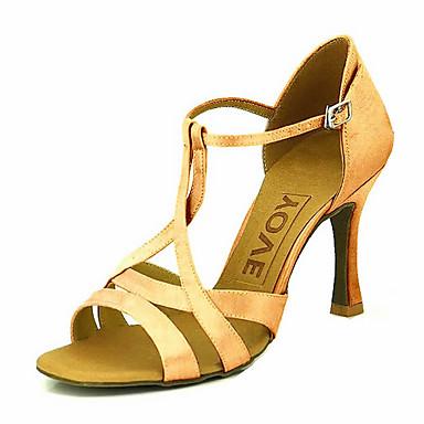 Dámské Boty na latinskoamerické tance / Standardní Satén Podpatky Na zakázku Obyčejné Taneční boty Žlutý / Fuchsiová / Fialová / Kůže
