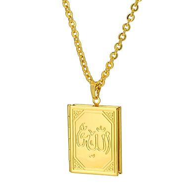 abordables Collier-Collier Pendentif Médaillon Foi dames Ethnique Dorée Argent 55 cm Colliers Tendance Bijoux pour Cadeau Quotidien