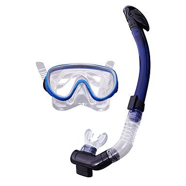 Şnorkel Paketleri / Dalış Paketleri Kuru Üst İki Pencere - Yüzme, Dalış Silikon - için Yetişkin Mavi