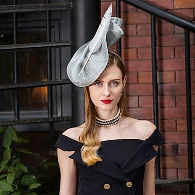 abordables Coiffes-Polyester Kentucky Derby Hat / Coiffure avec Plume / Fleur 1pc Mariage / Fête / Soirée Casque